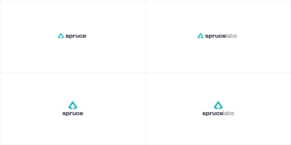 Logos and lockups for Spruce and Spruce Labs